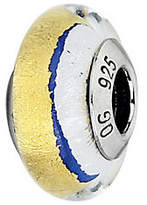 Murano Prerogatives Blue with Gold & White Italian Glass Bead