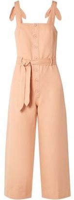 Apiece Apart Deia Cotton And Linen-blend Twill Jumpsuit