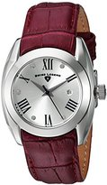 Swiss Legend Women's 'Liberty' Quartz Stainless Steel and Leather Automatic Watch, Color:Red (Model: 10550-02S-BURS)
