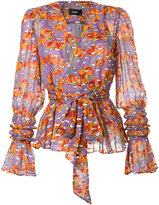 G.V.G.V. flower print wrap blouse