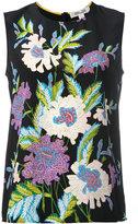 Diane von Furstenberg floral print sleeveless blouse