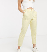 Asos DESIGN Petite ultimate linen cigarette trousers