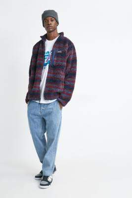 Columbia UO Exclusive Winter Pass Red Fleece Jacket - blue S at Urban Outfitters