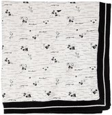 Karl Lagerfeld Knitted Cotton & Faux Terrycloth Blanket