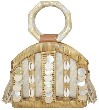 Aranaz Wicker Embellished Odessa Bag