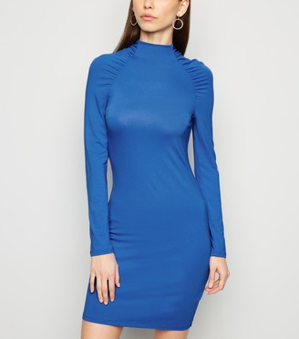New Look NA-KD Ruched Sleeve Bodycon Dress