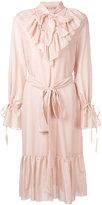 Flow The Label - ruffled details shirt dress - women - Silk/Cotton - S