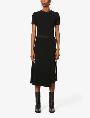 Rosetta Getty Belted cotton maxi dress