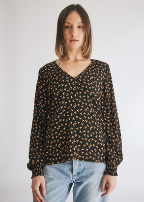 Just Female Women's Veneda Blouse in Snowdrop Flower, Size Extra Small