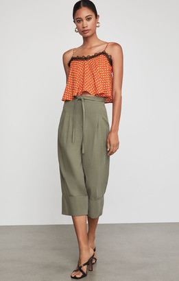 BCBGMAXAZRIA Cuffed Tie Front Cropped Pant