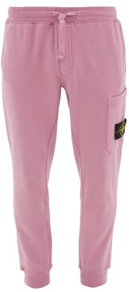 Stone Island Logo-patch Cotton Track Pants - Mens - Pink