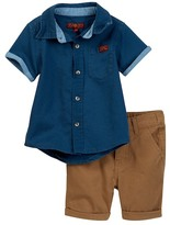 7 For All Mankind Short Sleeve Shirt & Short 2-Piece Set (Baby Boys)