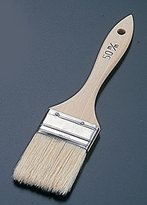 Thick wooden handle cake flat brush (pig hair) 50mm WHK0950 (japan import)