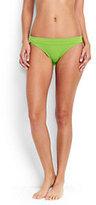 Classic Women's Low Waist Bikini Bottoms-Light Fuchsia Italian Floral