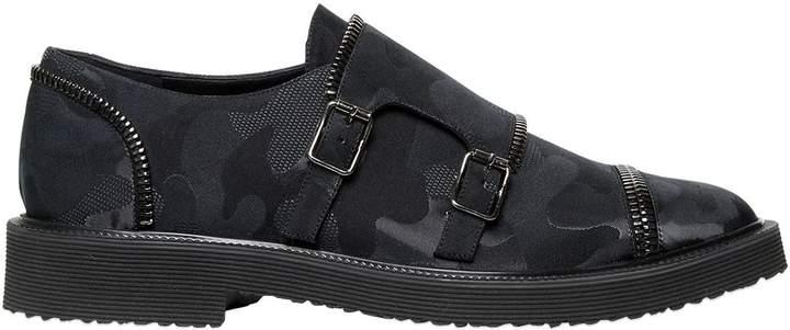 Giuseppe Zanotti Design Zipped Camo Monk Strap Shoes