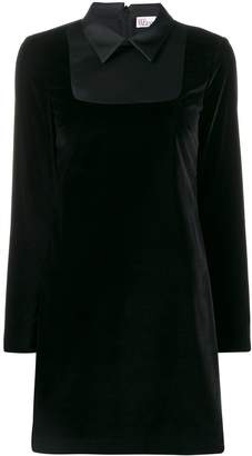 RED Valentino contrast collar velvet dress