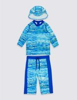 Marks and Spencer 3 Piece Printed Swim Outfit (0-5 Years)