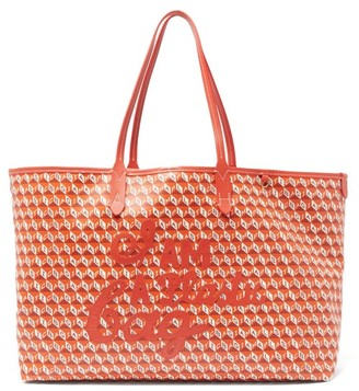 Anya Hindmarch I Am A Plastic Bag Recycled-canvas Tote Bag - Orange Multi