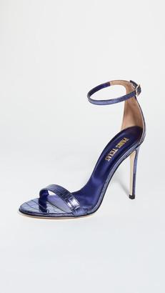 Paris Texas Metallic Croco Nudist Sandals