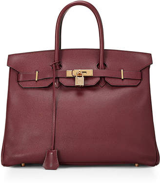 Hermes Birkin 35 Courcheval Satchel Bag, Rouge