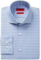 HUGO BOSS HUGO Men's Slim-Fit Blue Gray Plaid Dress Shirt