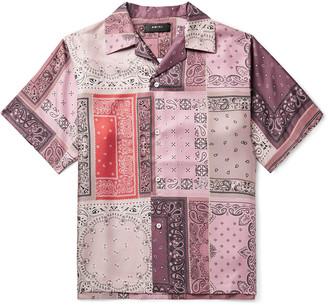 Amiri Camp-Collar Bandana-Print Silk-Twill Shirt