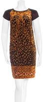 Etro Leopard Burnout Mini Dress