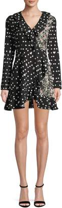 Missguided Mixed-Print Mini Dress