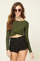 Forever 21 FOREVER 21+ Twist-Front Crop Top