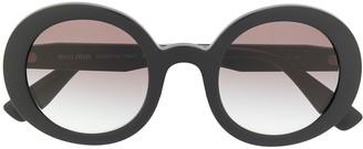 Miu Miu Gradient Round Frame Sunglasses