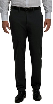 Haggar Men's Solid 4-Way Stretch Slim Fit Dress Pant