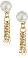 BCBGeneration Pearl and Tassel Stud Earrings