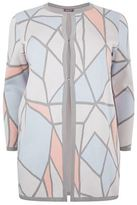 Basler Geometric Open Front Cardigan