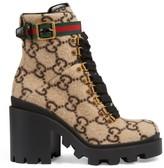 Gucci Trip GG Wool Combat Boots