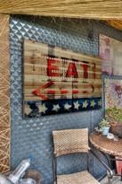 Parvez Taj Eat Natural Pine Wood Wall Art