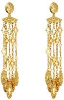 Oscar de la Renta Diamond Tassel C Earrings