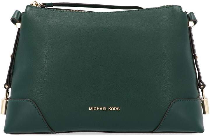 587d63eddeab Michael Kors Leather Messenger - ShopStyle