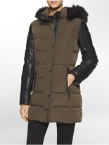 Calvin Klein Faux Leather Hooded Jacket