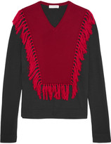 Altuzarra Ming Fringed Wool Sweater - Black