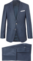 Hugo Boss - Blue Hutson Ganda Slim-fit Super 120s Virgin Wool Three-piece Suit