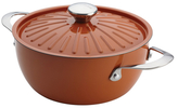 Rachael Ray 4.5QT. Round Stainless Steel Covered Casserole