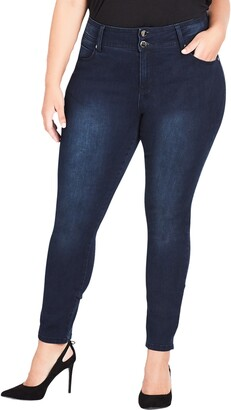 City Chic Jean Harley High Rise Skinny Jeans