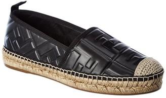 Fendi Ff Leather Espadrille