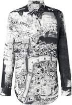 Alexander McQueen London Map shirt