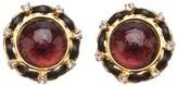 Chanel purple earring