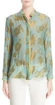 Etro Women's Floral Lame Blouse