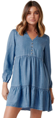 Forever New Lucy Denim Smock Dress