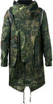 Givenchy printed hooded jacket - men - Cotton/Polyamide/Polyester/Viscose - 50