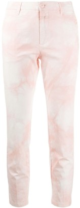 Closed Cropped Tie-Dye Trousers