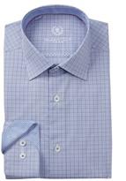Bugatchi Woven Grid Trim Fit Dress Shirt